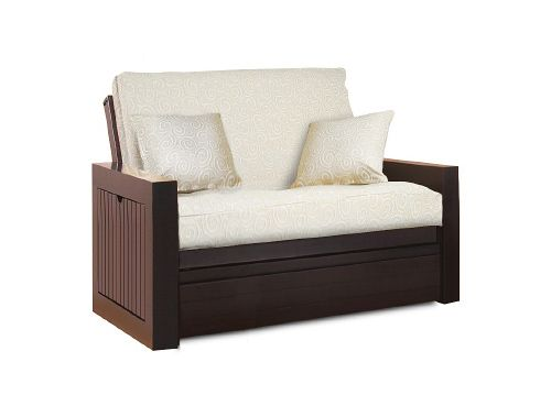 Gorgeous Twin Size Futon Chair With White Cushions