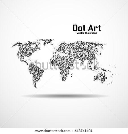 Dot art design of the world map icon logo dot art pinterest dot art design of the world map icon logo gumiabroncs Gallery