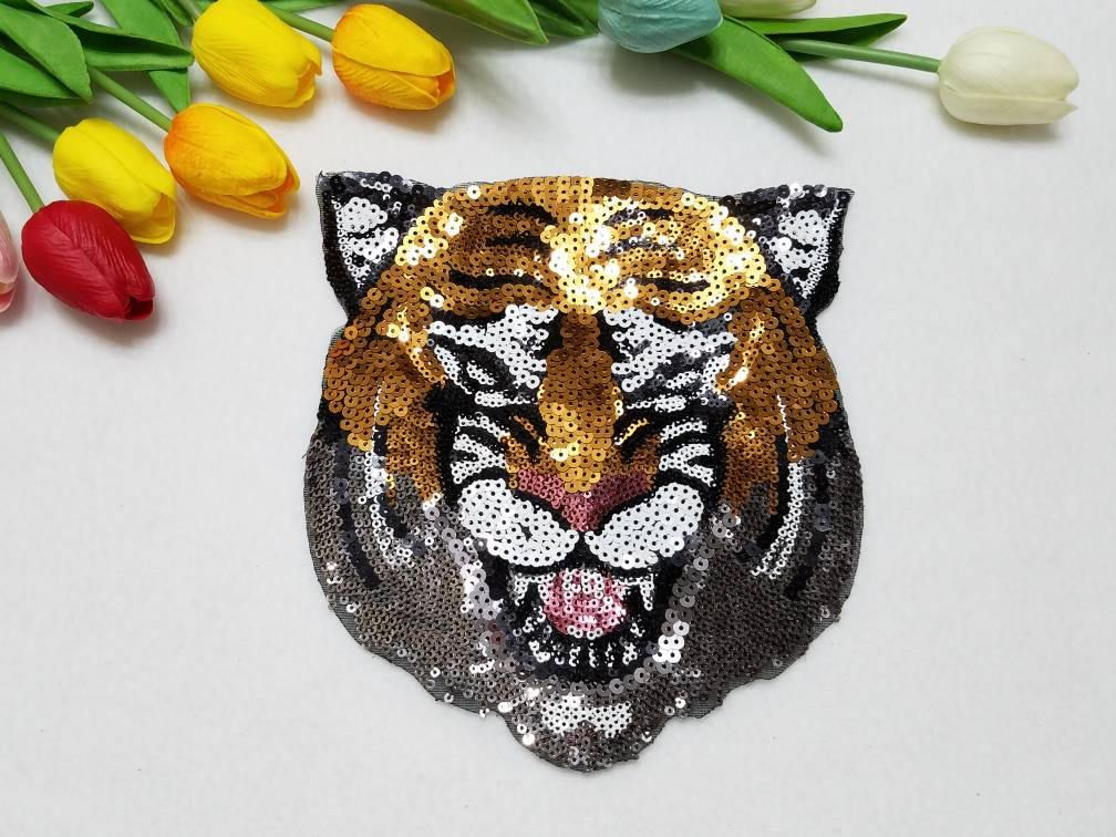 Iron on Fashion patch Sequins patch Large patch