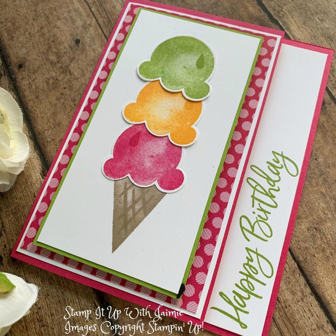 Stampin' Up! Sweet Ice Cream Card