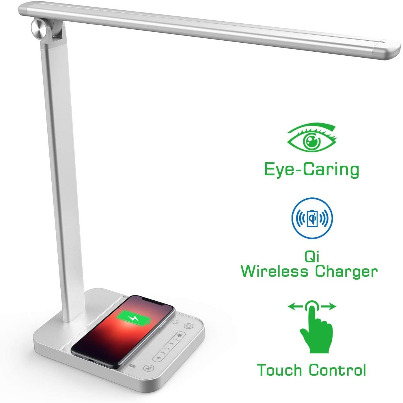 Napatek Led Desk Lamp With Wireless Charger Touch Control In 2020 Study Lamps Desk Lamp Led Desk Lamp