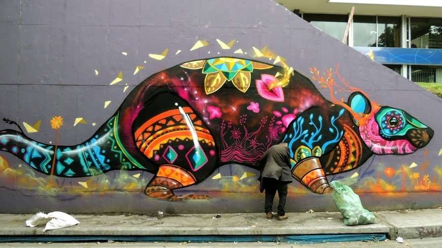 Los Murales Que Hizo Farid Rueda En Uruapan Y En Bogota Graffiti