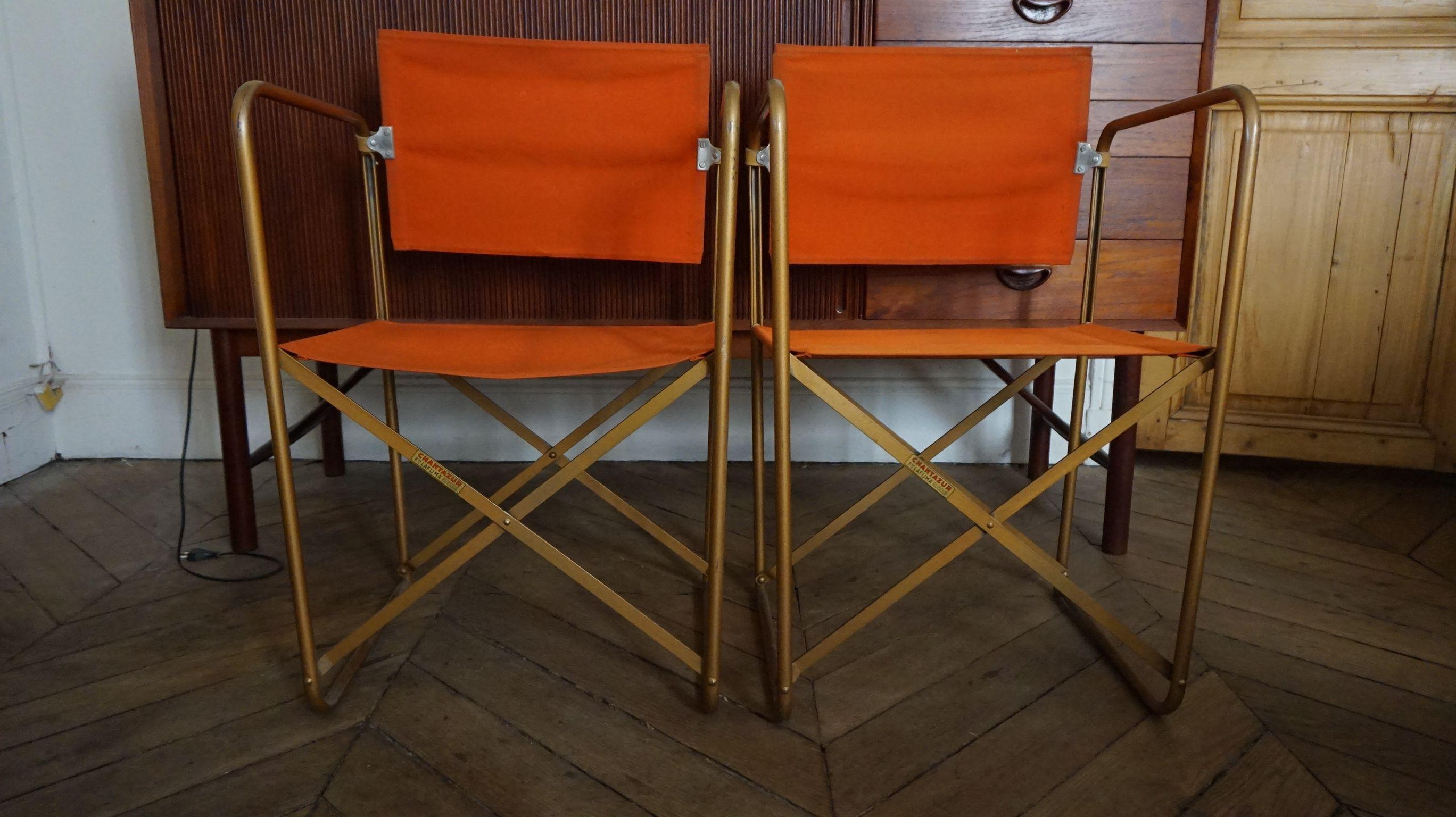 Fauteuils Vintage Chantazur Lafuma 1960 Era Lecorbusier Eames Decor Home Decor Vintage