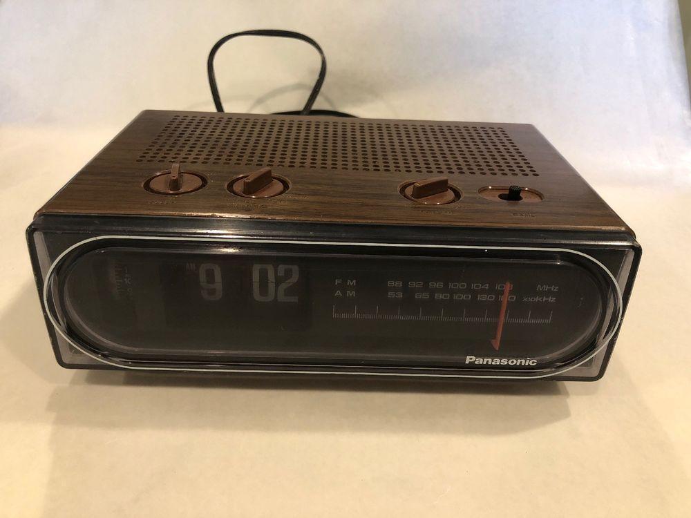 Panasonic Rc 6015 Flip Clock Am Fm Radio 1970 S Seen In Back To The Future Flip Alarm Clock Radio Clock Radio