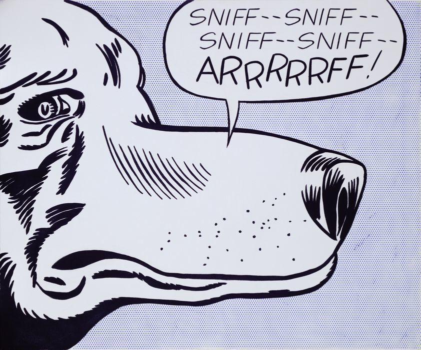 Arrrrrff 1962 By Roy Lichtenstein C Estate Of Roy Lichtenstein