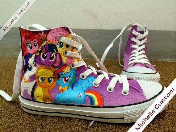 07bf7f00ef341 Custom Design Purple Converse Custom Hand Painted Shoes,High Top ...
