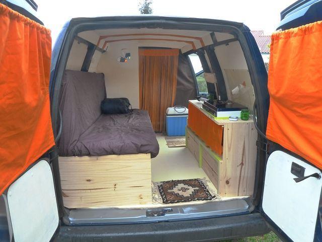 Resultats De Recherche D Images Pour Amenagement De Camping Interieur Dodge Caravan Ford Transit Connect Camper Transit Camper Camper Van Conversion Diy