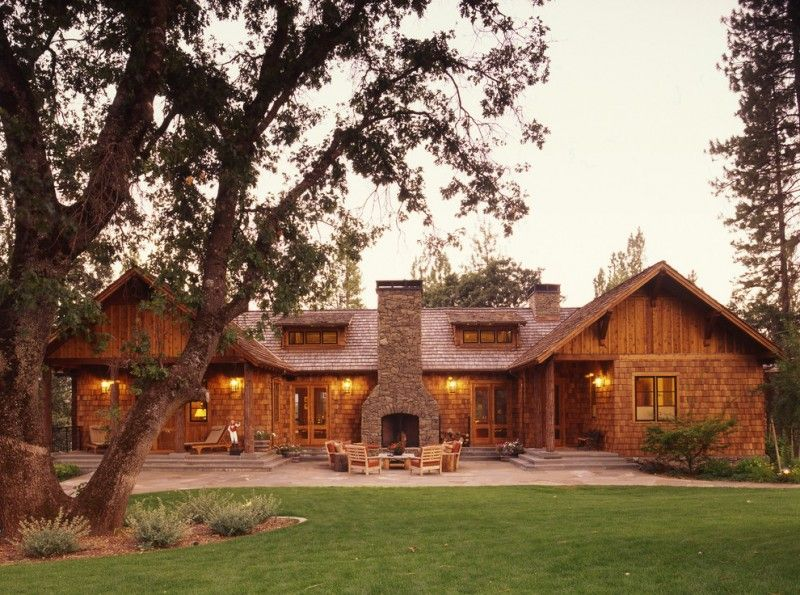 Texas Ranch House Plans Surround Fireplace Stone Exterior Patio
