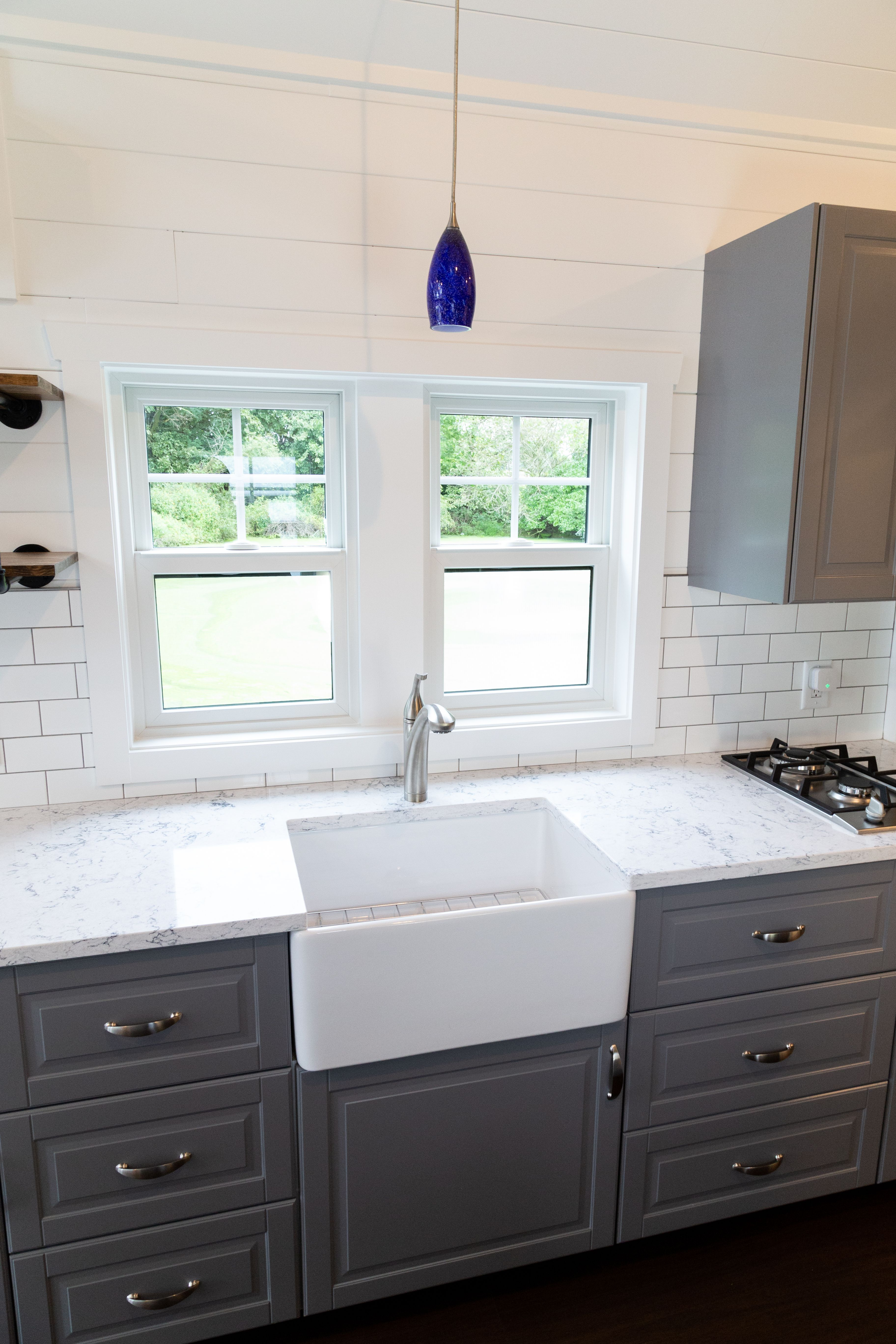 This Farmhouse sink matched well with the IKEA cabinets ...