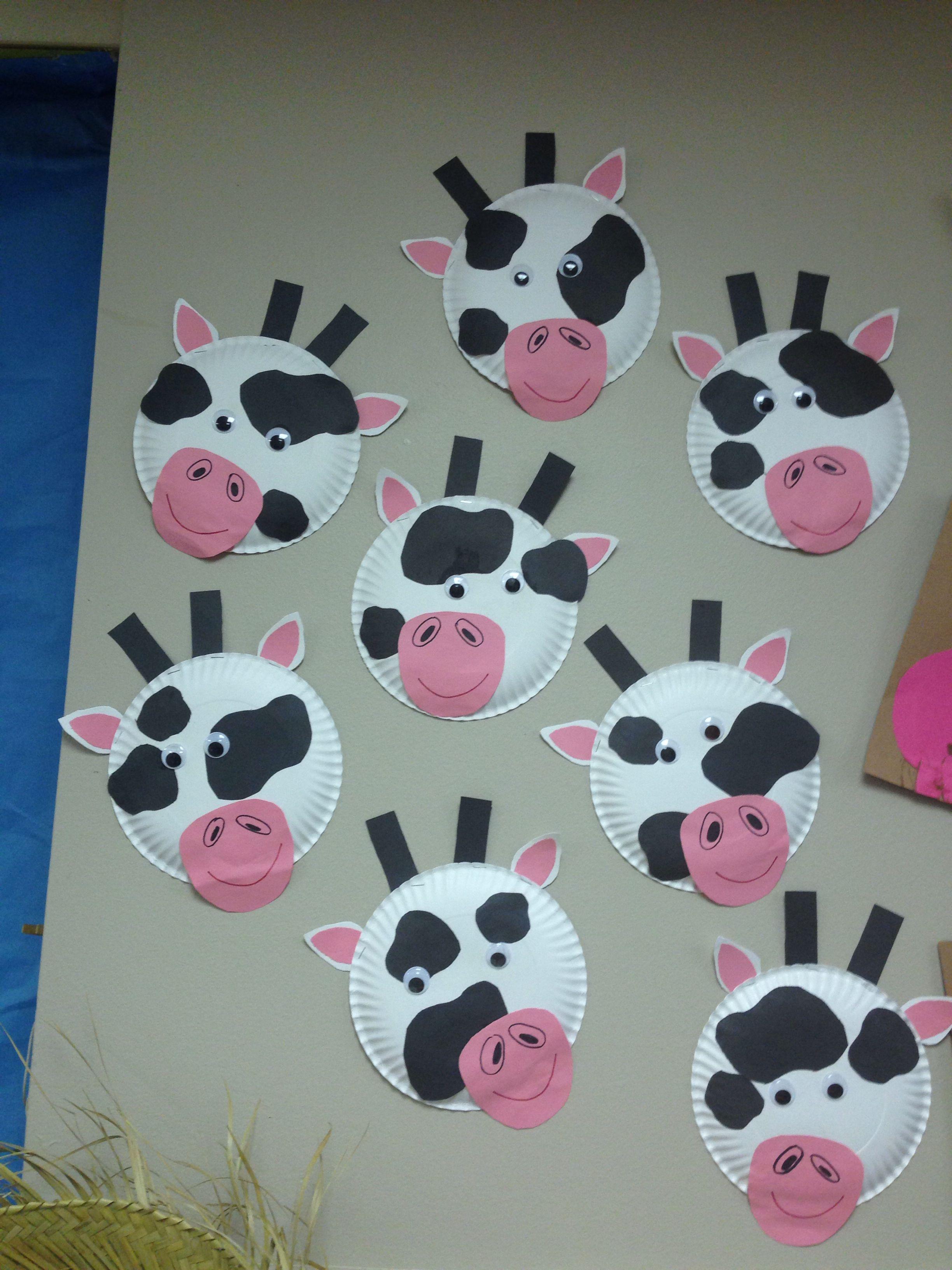 Cow Farm Animal Preschool Crafts