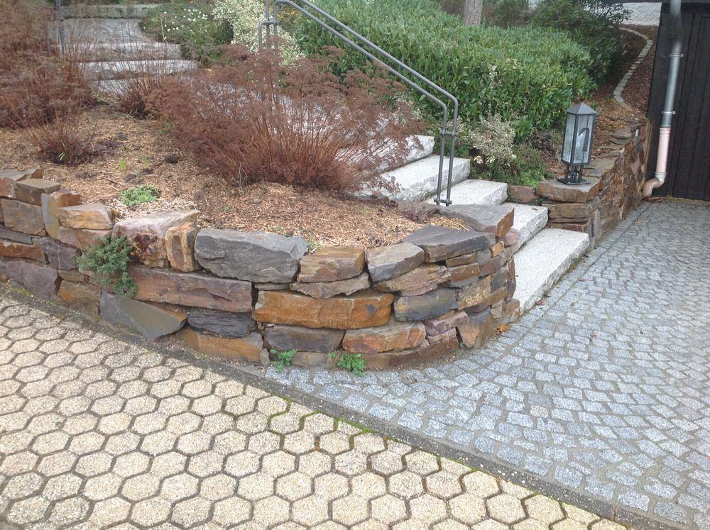 Garten terrasse au engestaltung mauer trockenmauer for Mauer terrasse sichtschutz