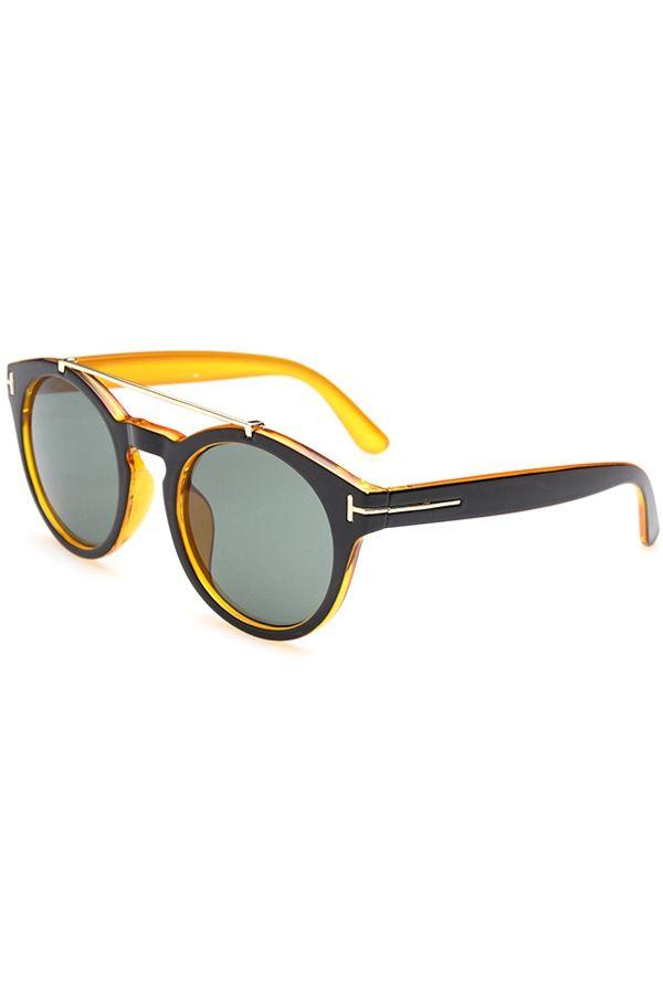 Alloy Splice Color Block Sunglasses