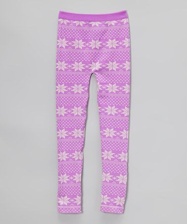Look at this #zulilyfind! Orchid Fair Isle Sweater Leggings ...