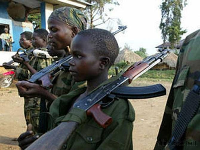 More than 550 child soldiers freed in DR Congo