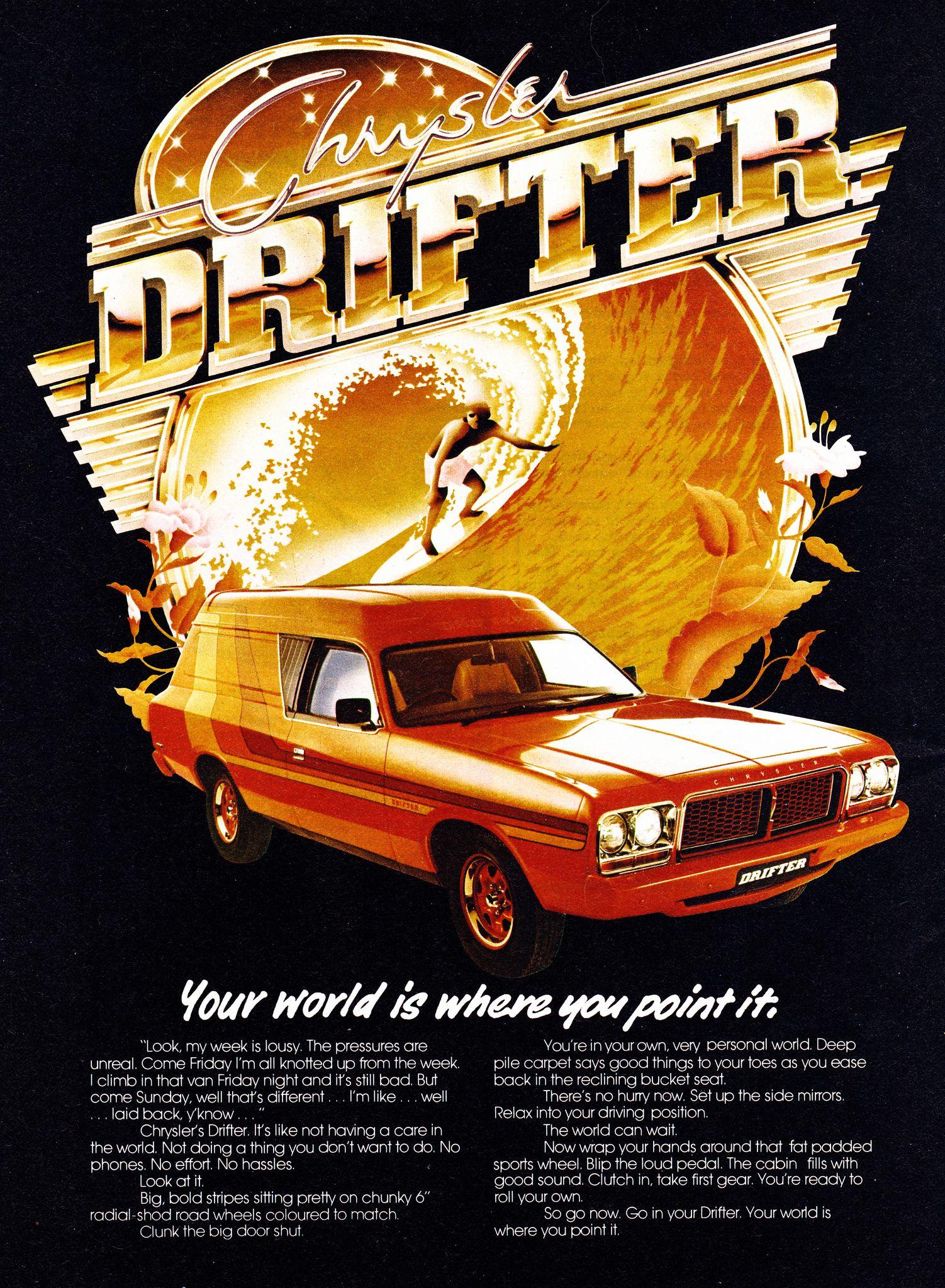 c3efc7ffd3 1977 CL Chrysler Valiant Drifter Panel Van Aussie Original Magazie ...