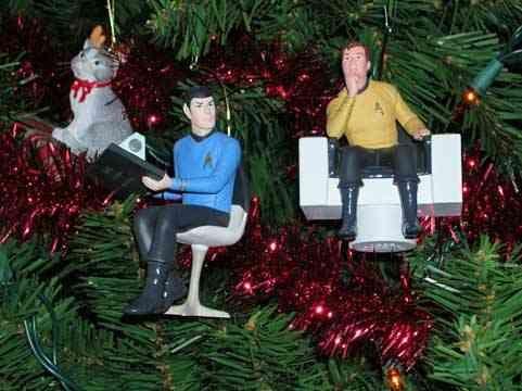 Star Trek Spock and Kirk Christmas tree ornaments (I have them ...