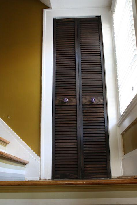 Espresso Dark Stained Bifold Closet Door Ck Interior