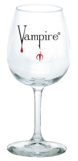 Vampire Wine Glass Peinture Sur Verre Peinture Verre