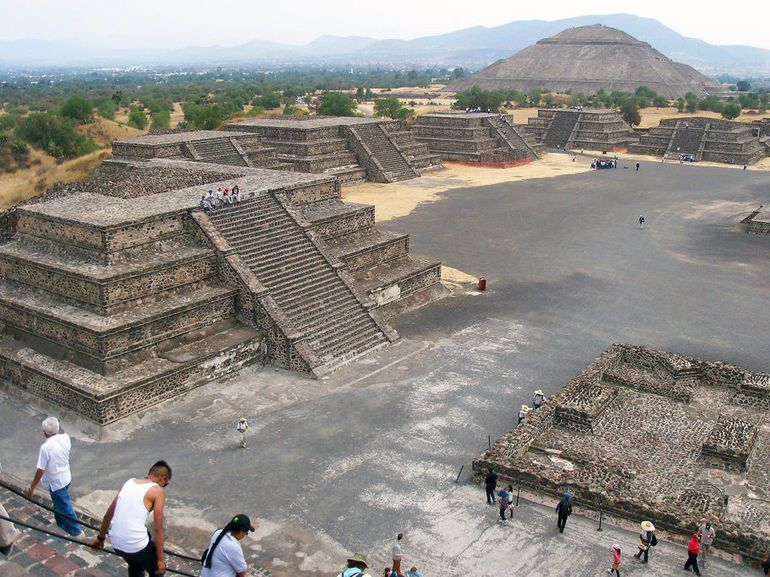 Photo Of Teotihuacan Pyramids And Shrine Of Guadalupe