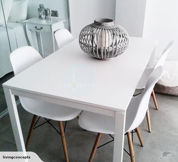 IKEA MELLTORP 4 seater dining table 125x75cm $179 Trade Me