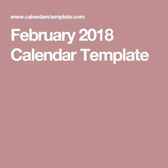 February  Calendar Template  Student Teachers