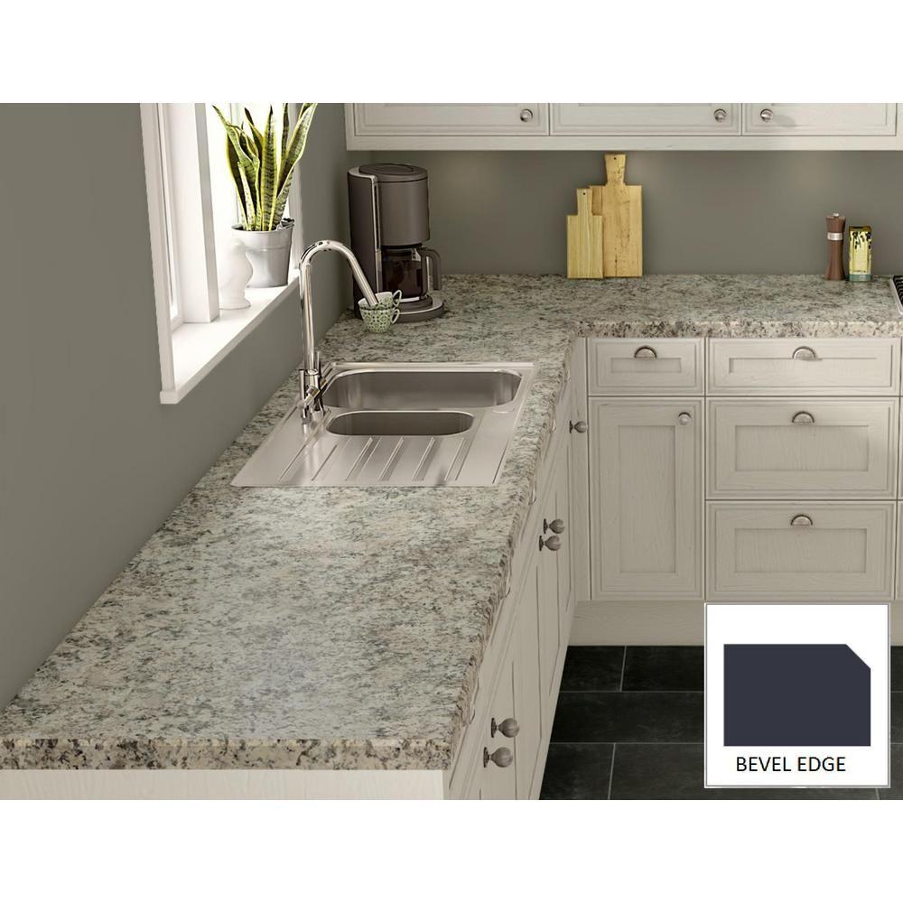 Wilsonart Typhoon Ice Laminate Custom Bevel Edge Laminate Kitchen Kitchen Countertops Diy Paint Kitchen Countertops Laminate