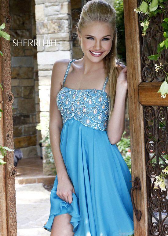 Sherri Hill 11049 Blue Prom Dress | Short Sherri Hill Prom Dresses ...