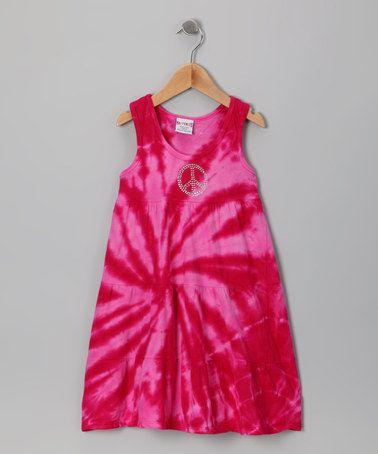 Another great find on #zulily! Pink Tie-Dye Racerback Dress - Toddler & Girls #zulilyfinds