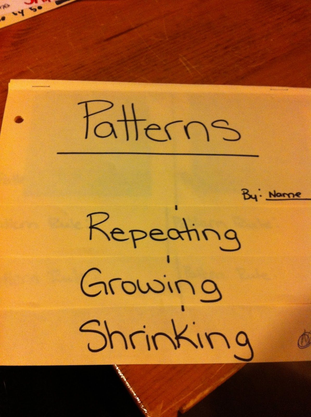 Thinking Of Teaching Patterns Flipbook Foldable