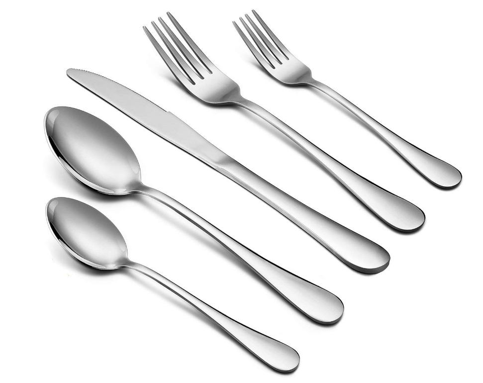 Silverware Set 40 Piece Flatware Set E Far Stainless Steel Utensil Set Service For 8 Dinner Knives Forks Spoons Sim Utensil Set Silverware Set Flatware Set
