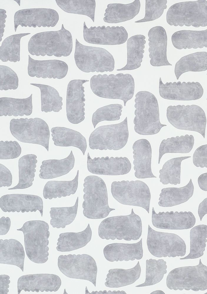 Chatty Print Wallpaper Sample, Graphite Grey - Spruce Up: Search - wallpapers, gray, eclectic modern