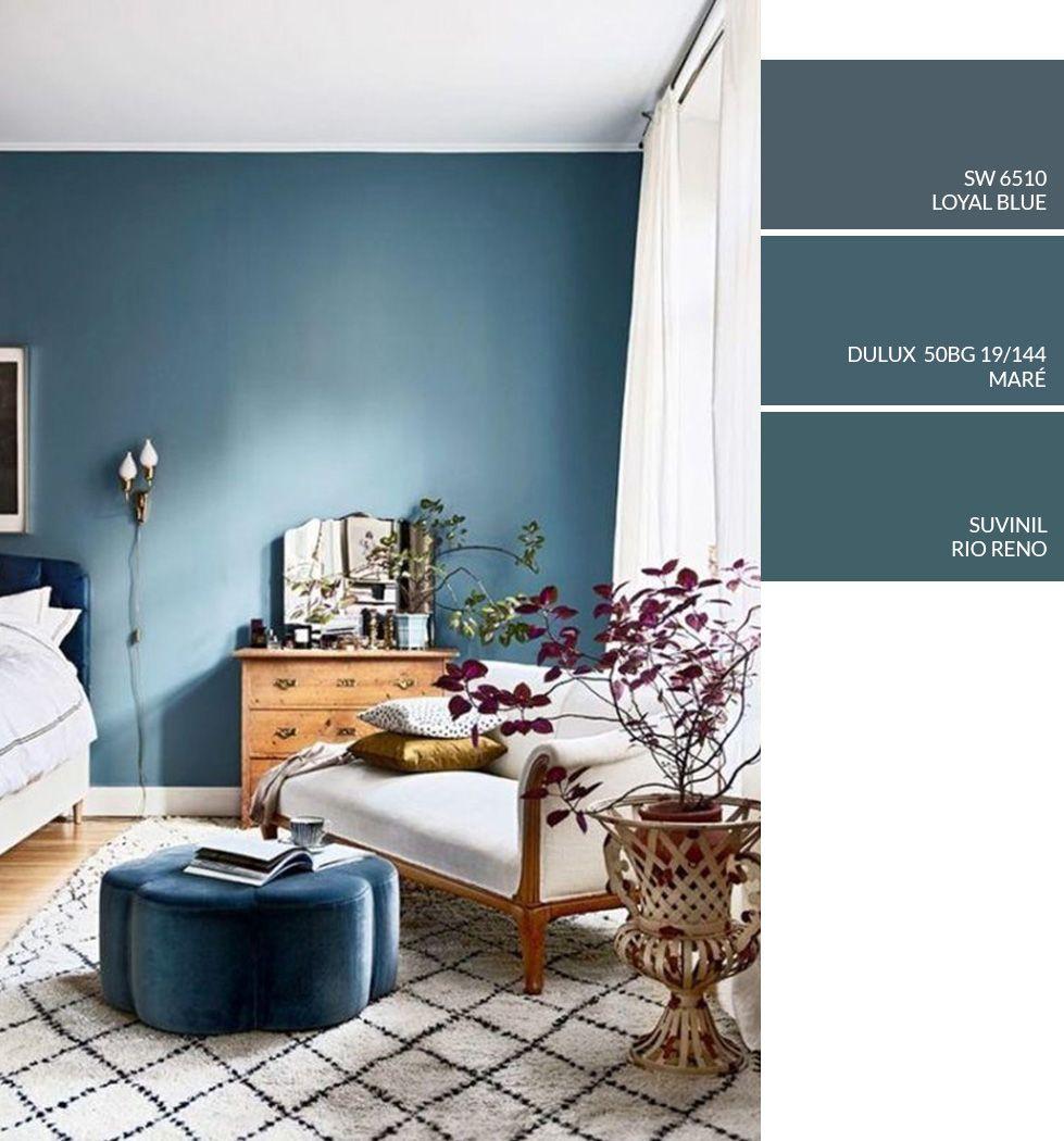 Dica De Cor De Tinta Para Pintar Parede Em Casa Tinta Azul  ~ Quarto Grande De Luxo Com Pintar Parede Do Quarto