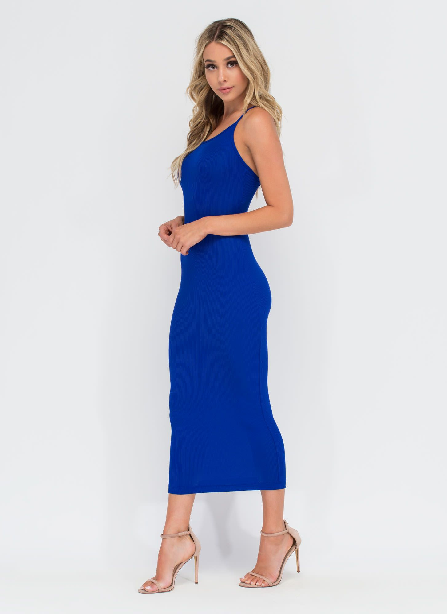 Daily essential ribbed tank dress ribbed dress