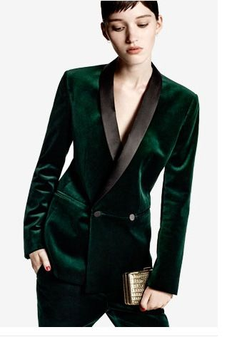 Green Velvet Tux Grooms Maid Peitra S Outfit Tuxedo Women Womens Suits Business Suits For