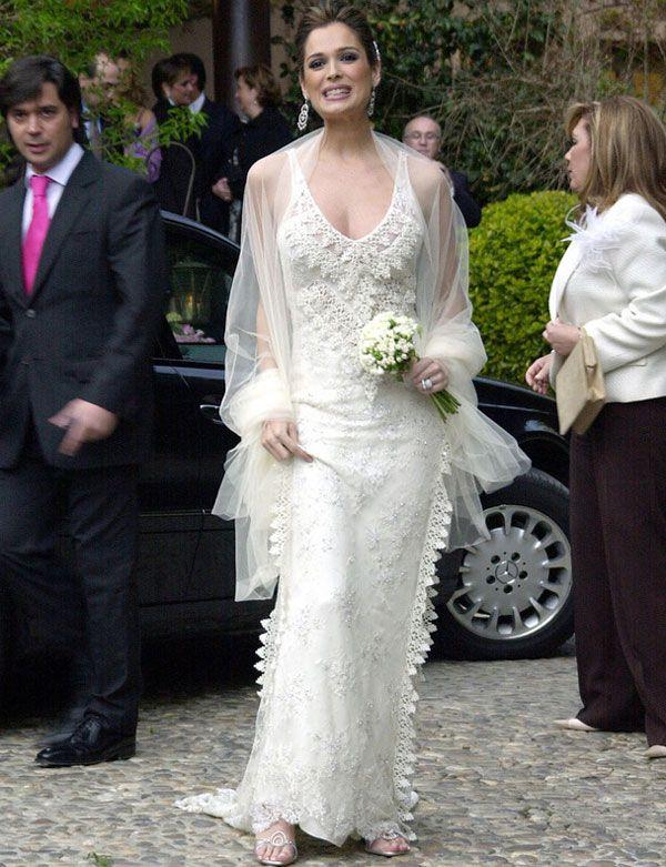 famosas con vestidos de novia de manuel mota | celebrity weddings