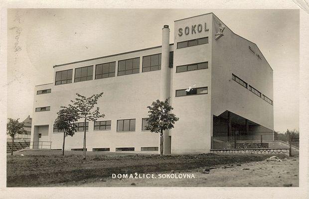 Sokol building, Lev Krča, Domažlice, Czechoslovakia 1930s