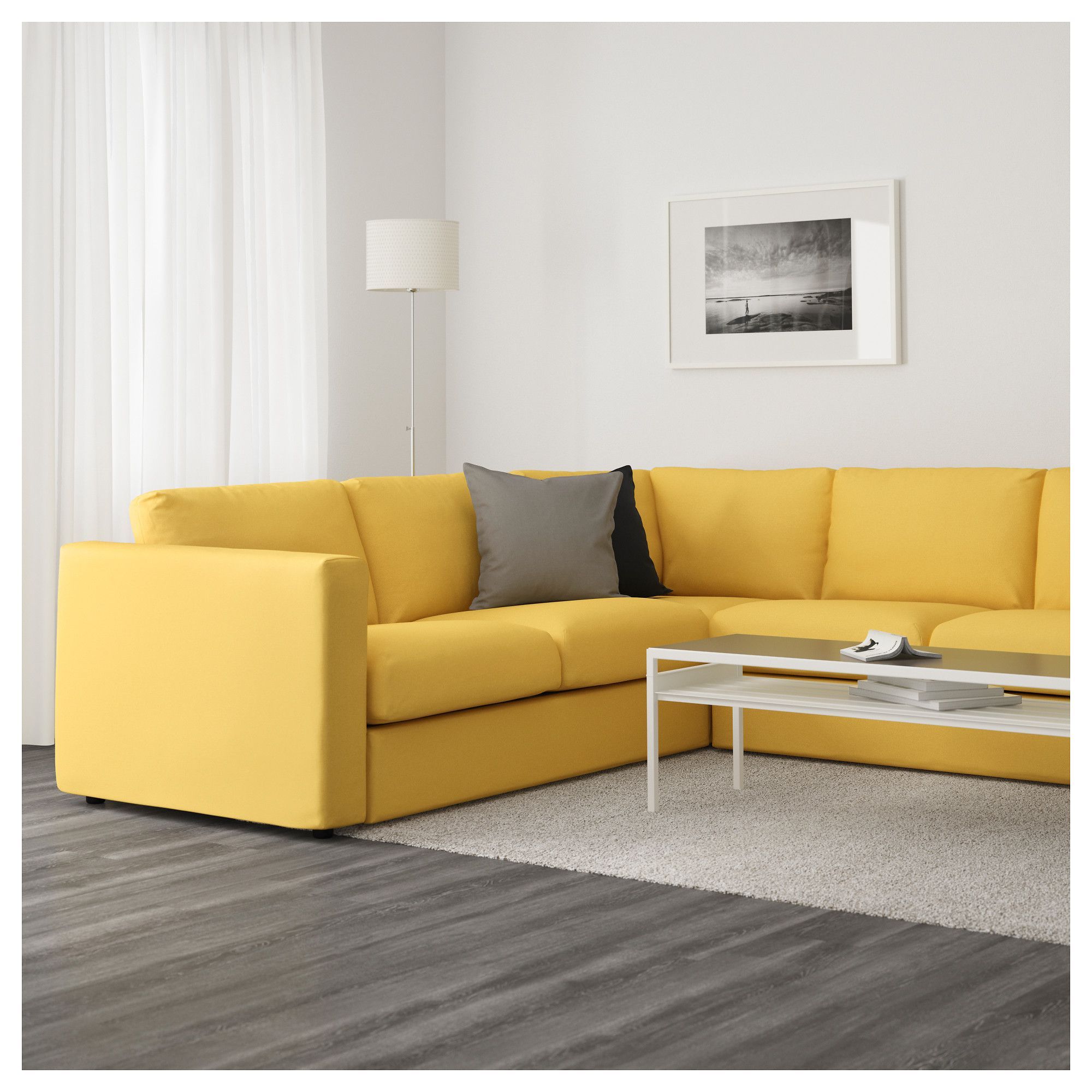 Small Sectional Sofa Ikea Ikea Vimle Sectional 5 Seat Corner Orrsta Golden Yellow
