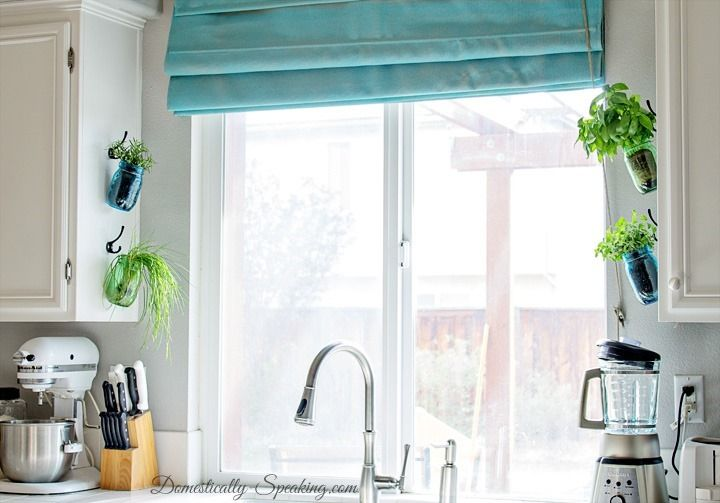 A Great Way To Have Display Herb Mason Jars. Add A Herb Garden In Your  Kitchen Easily With These Hanging Herb Mason Jars.