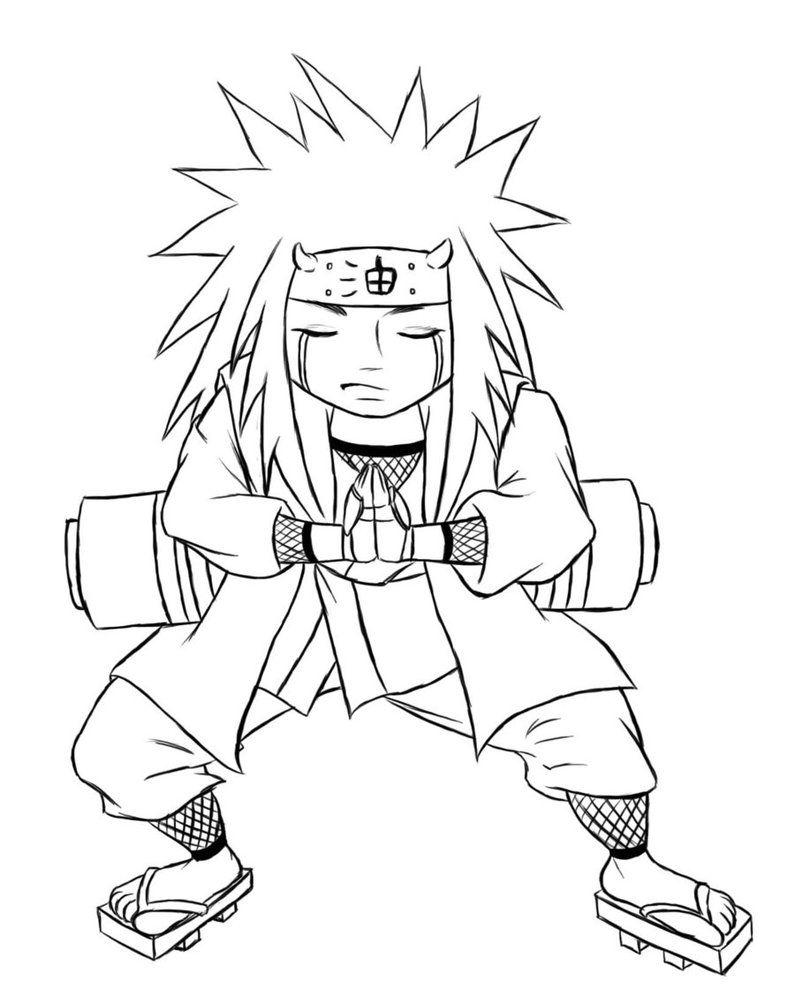 Naruto Chibi Jiraiya Lines By Kimberly Castello Anime Character Drawing Naruto Sketch Drawing Naruto Drawings