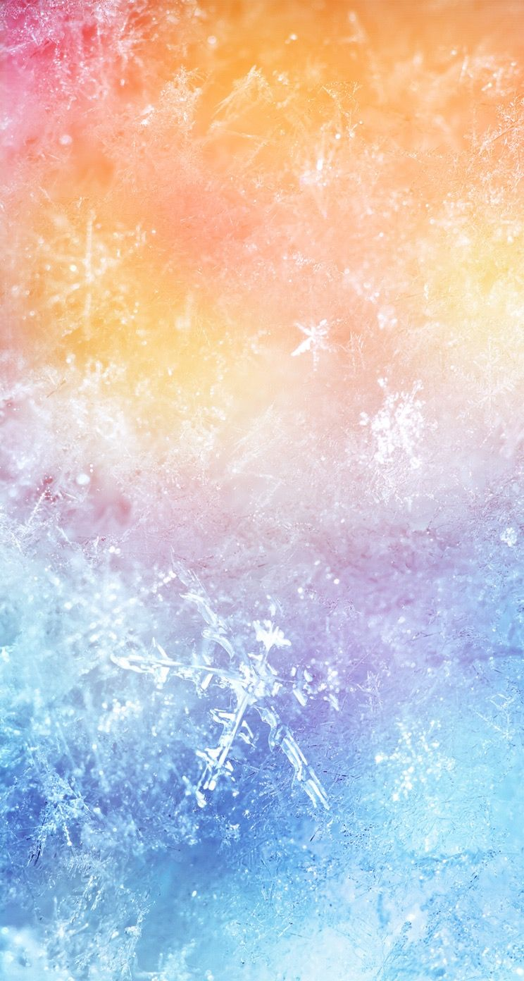 Tap And Get The Free App Shining Colorful Ice Window Frost