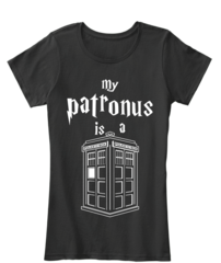 Doctor Who Shirts - My Patronous is a Tardis Ladies | Whovian Store