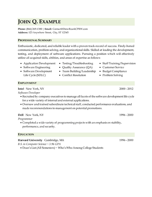 Example Of Military Resume New It  Technical Resume  Resume  Pinterest  Free Resume Builder .