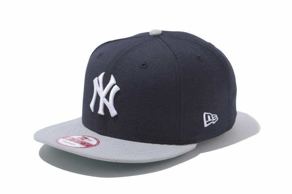 5d41d5112d17e 9fifty ニューヨーク・ヤンキース ネイビー × ホワイト グレーバイザー ...