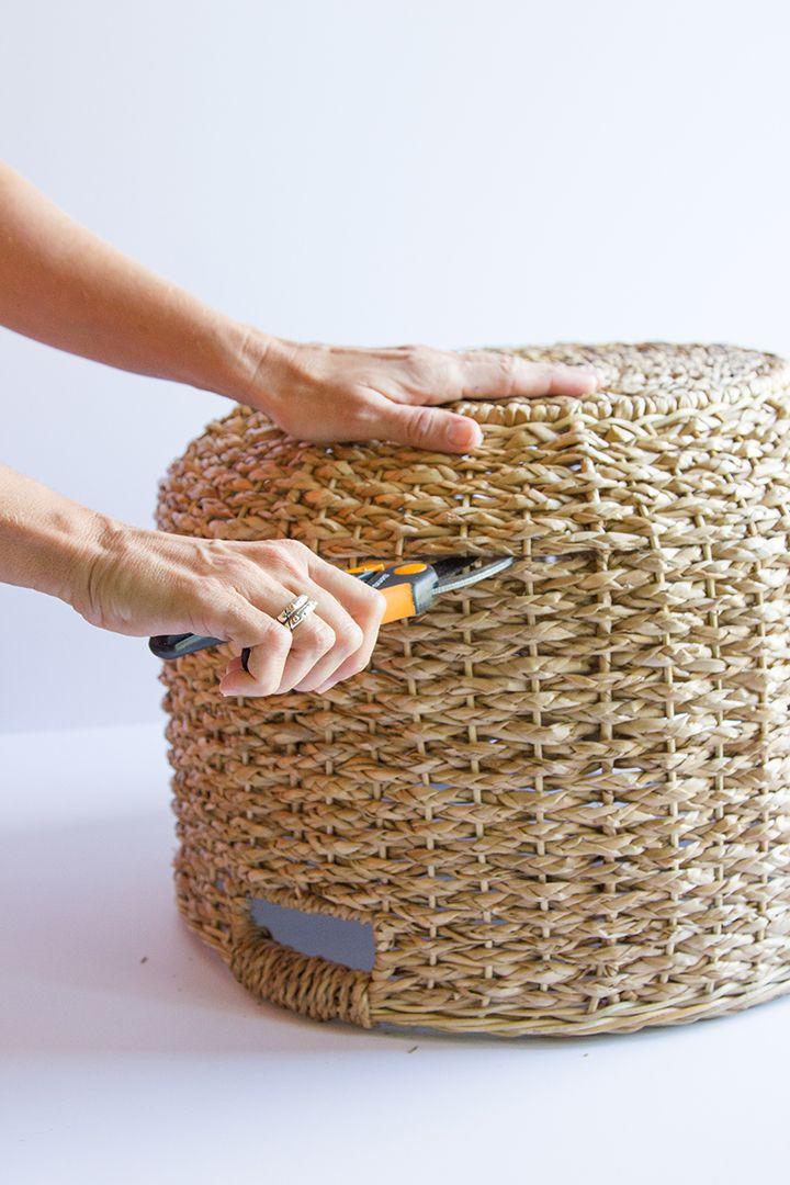 Transform a Plain Basket into This Christmas Tree