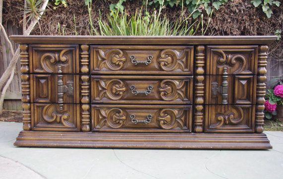 70 S Mediterranean Rococo Style Dresser Chest By