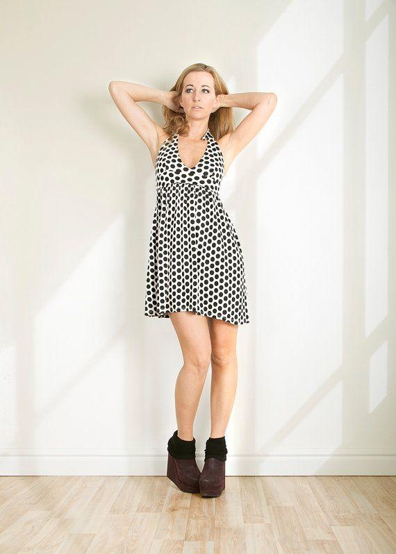 Sommerkleid Beach dress Neckholder Kleid Open Back Kleid von folco, $59.00