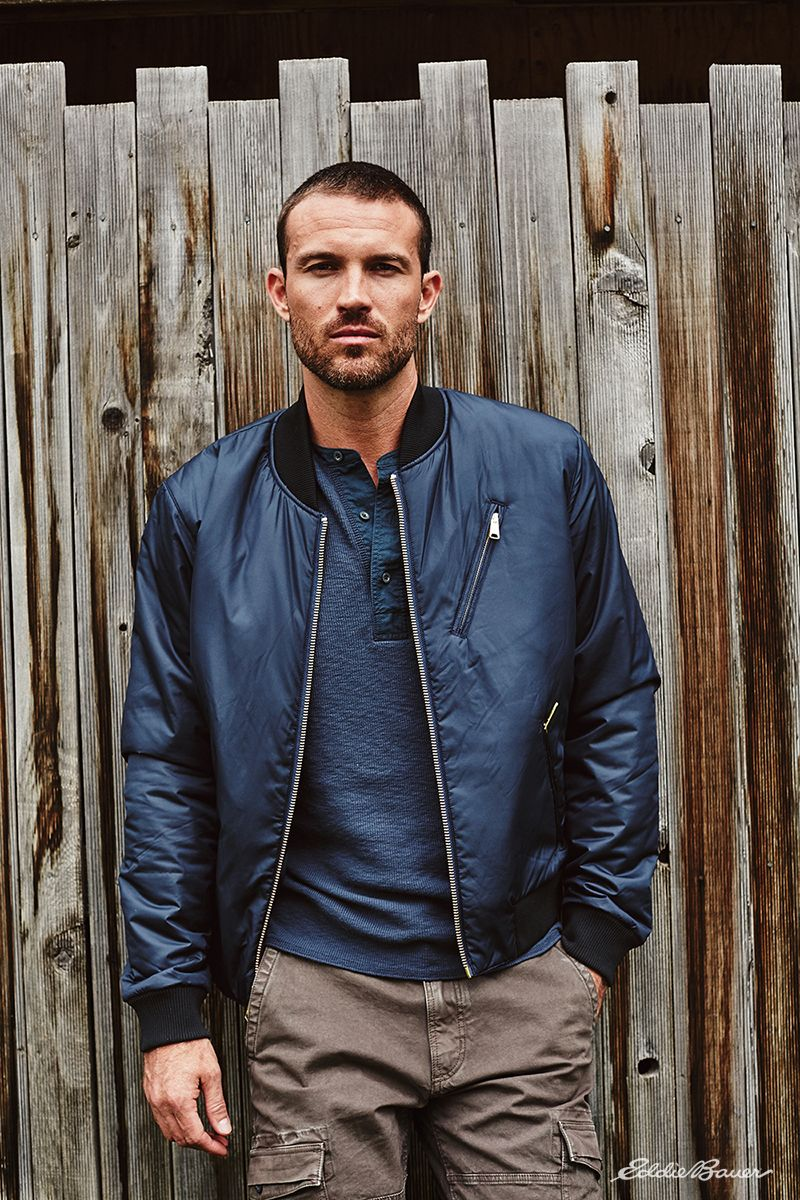 Men S Blacktail Bomber Jacket Bomber Jacket Outfit Gq Mens Style Mens Outfits [ 1200 x 800 Pixel ]
