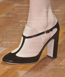 mobile site-Pointed toe thick heel high-heeled shoes shallow mouth single shoes vintage white collar 2013 spring and autumn