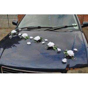 decoration voiture mariage argent