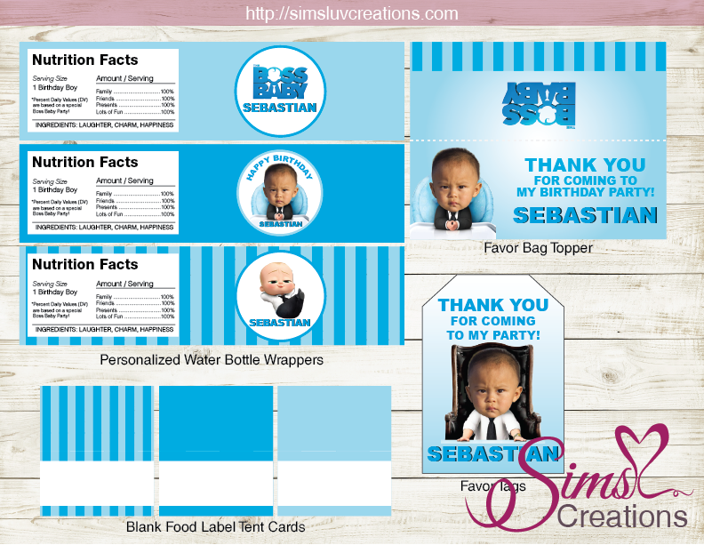 Boss Baby Party Printables Kit Boss Baby Birthday Decoration Kit Baby Birthday Decorations Baby Birthday Party Food Boss Baby